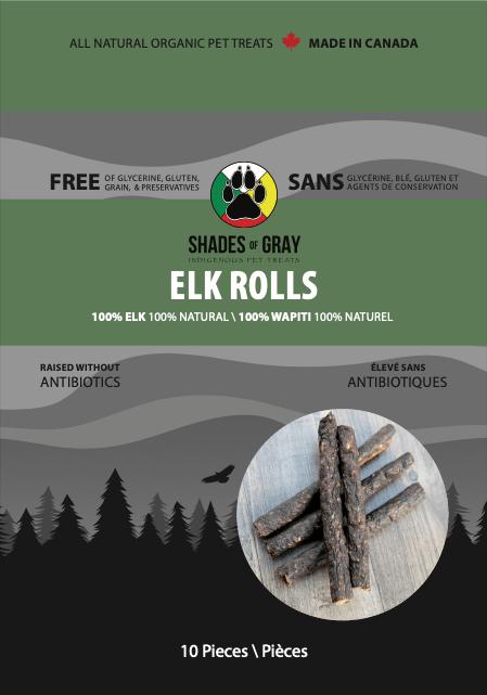 Elk Rolls Pet treats
